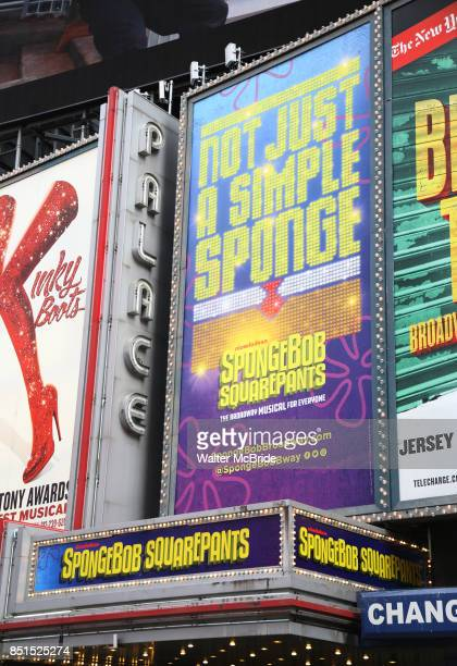Theatre Marquee unveiling for the new Broadway Musical 'SpongeBob SquarePants' on September 22 2017 at the Palace Theatre in New York City