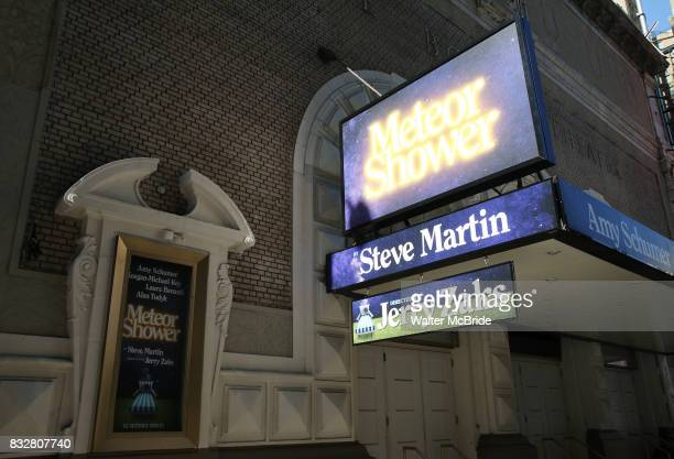 Theatre Marquee unveiling for the new Steve Martin play 'Meteor Shower' directed by Jerry Zaks and starring Amy Schumer KeeganMichael Key Laura...
