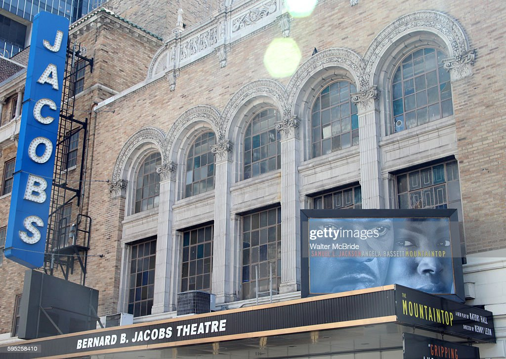 Theatre Marquee unveiling of 'The Mountaintop' at the Bernard B Jacobs Theatre in New York City Taking place on April 3 The Mountaintop is a gripping...