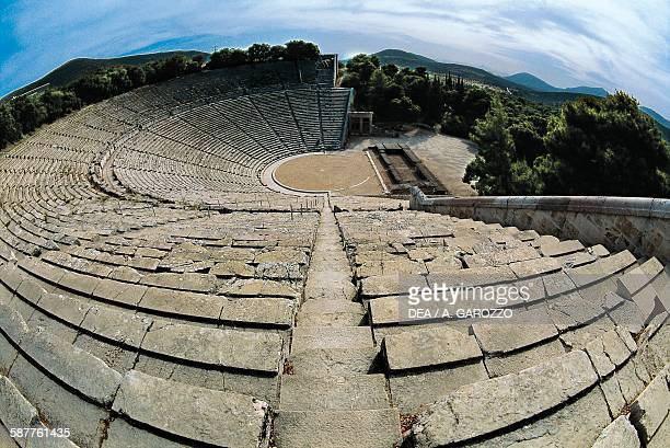 Theatre of Epidaurus ca 350 BC designed by the architect Polykleitos the Younger Greece Greek civilisation 4th century BC
