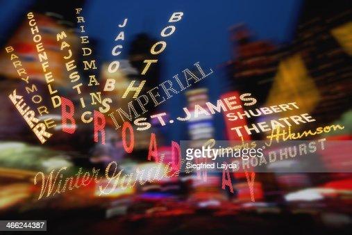 Theatre signs around Broadway