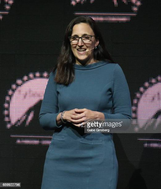 Theatres Executive Vice President and Chief Content Programming Officer Elizabeth Frank speaks at Paramount Pictures' presentation highlighting its...