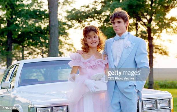 A theatrical movie originally released August 3 1984 Pictured left to right Elizabeth Gorcey and C Thomas Howell get ready for the senior prom Frame...