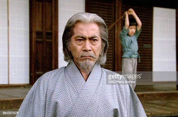 CHALLENGE theatrical movie originally released July 23 1982 The film directed by John Frankenheimer Pictured Toshiro Mifune while Jiro practices in...