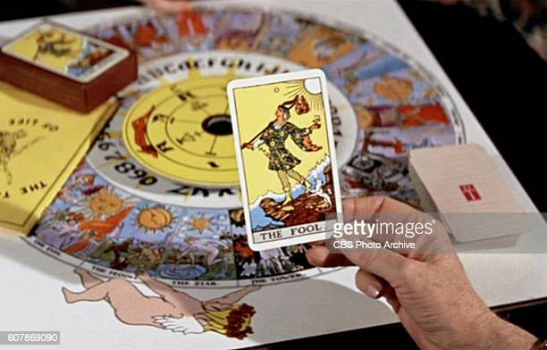 FOOLS theatrical movie originally released May 28 1969 Film directed by Stuart Rosenberg Pictured Grace Greenlaw holds a fortune telling card She...