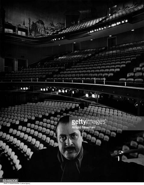 Theatrical producer David Merrick poses for portrait at the St James Theater January 11 1961 in New York City