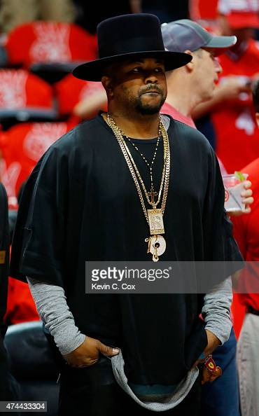 TheDream attends Game Two of the Eastern Conference Finals of the 2015 NBA Playoffs between the Atlanta Hawks and the Cleveland Cavaliers at Philips...