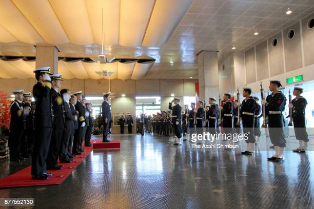 Thee sending off ceremony of the Antarctic observation vessel Shirase with 180 crew members including a record 11 women is held on November 12 2017...