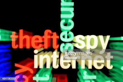 Theft spy internet : Stock Photo