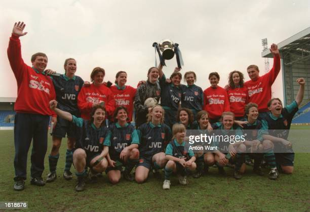 AFTER their 32 VICTORY OVER LIVERPOOL IN THE 1995 WOMENS FA CUP FINAL Mandatory Credit Anton Want/ALLSPORT
