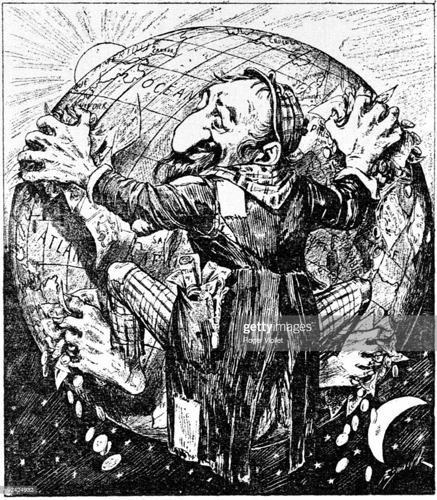 'Their homeland' antiSemitic caricatue France around 1900