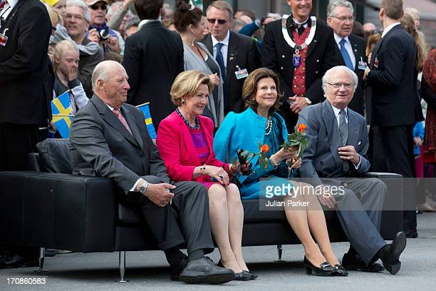 Their Majesties visit Tromso as King Harald of Norway and Queen Sonja of Norway host King Carl Gustaf and Queen Silvia of Sweden on their official...