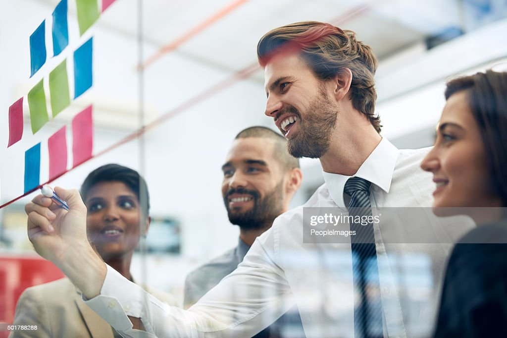 Their plans for success is already succeeding : Stock Photo