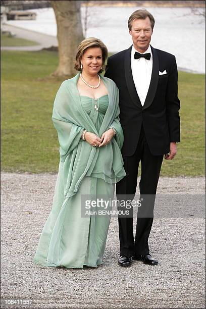 Their Royal Highnesses the Grand Duke Henri and Grand Duchess Maria Theresa of Luxembourg in Stockholm Sweden on April 29 2006