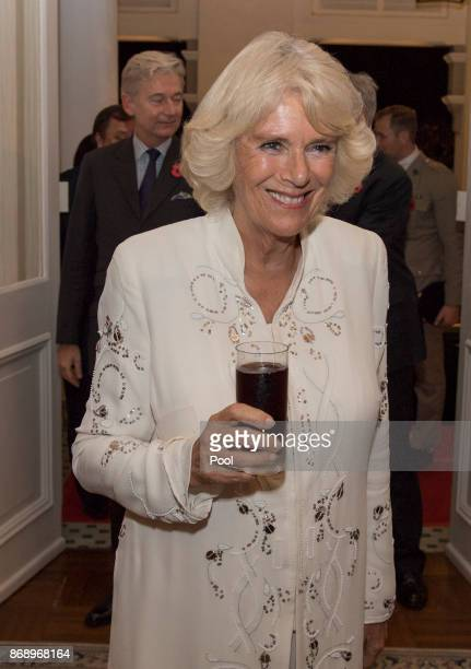 Their Royal Highnesses The Prince of Wales and The Duchess of Cornwall attend a reception held by Mr Scott Wightman The British High Commissioner and...