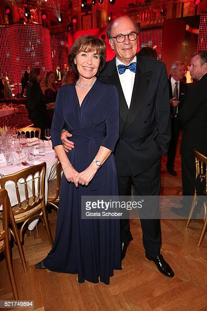 Thekla Carola Wied and her husband Hannes Rieckhoff during the 27th ROMY Award 2015 at Hofburg Vienna on April 16 2016 in Vienna Austria