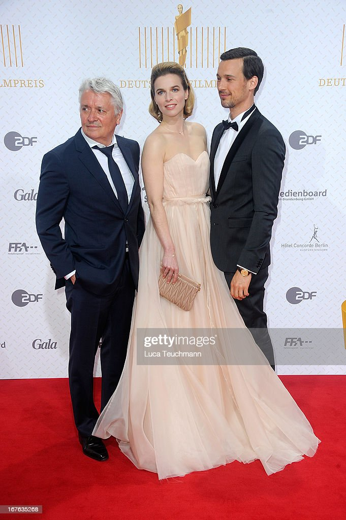 Thekla Reuten; Florian David Fitz and Henry Huebchen attend the Lola German Film Award 2013 at Friedrichstadtpalast on April 26, 2013 in Berlin, Germany.