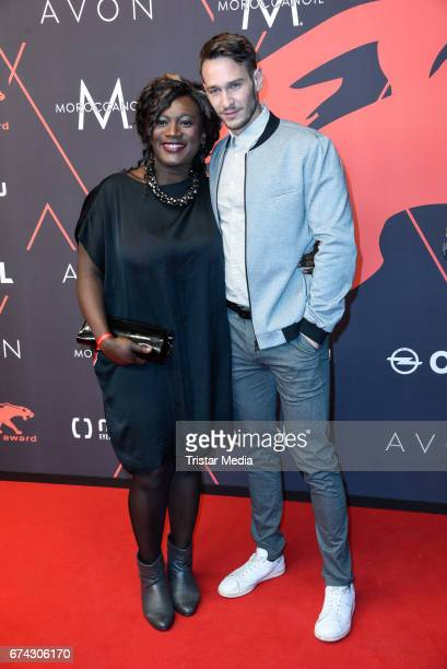 Thelma Buabeng and Vladimir Burlakov attend the New Faces Award Film at Haus Ungarn on April 27 2017 in Berlin Germany