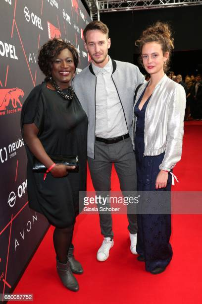 Thelma Buabeng Vladimir Burlakov and guest during the New Faces Award Film at Haus Ungarn on April 27 2017 in Berlin Germany