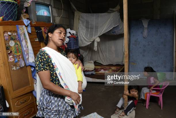 Thelma Chacon speaks at her home in Chinautla municipality five km north of Guatemala City on June 21 2017 A mudslide in an indigenous village in...