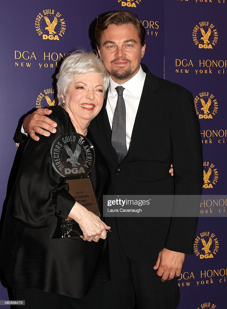 Thelma Schoonmaker and Leonardo DiCaprio attend the DGA Honors Gala 2015 on October 15, 2015 in New York City.