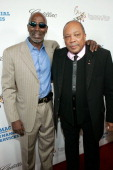 Thelonious Monk Jr and Quincy Jones arrive to The Thelonious Monk Institute of Jazz and The Recording Academy Los Angeles chapter honoring Herbie...