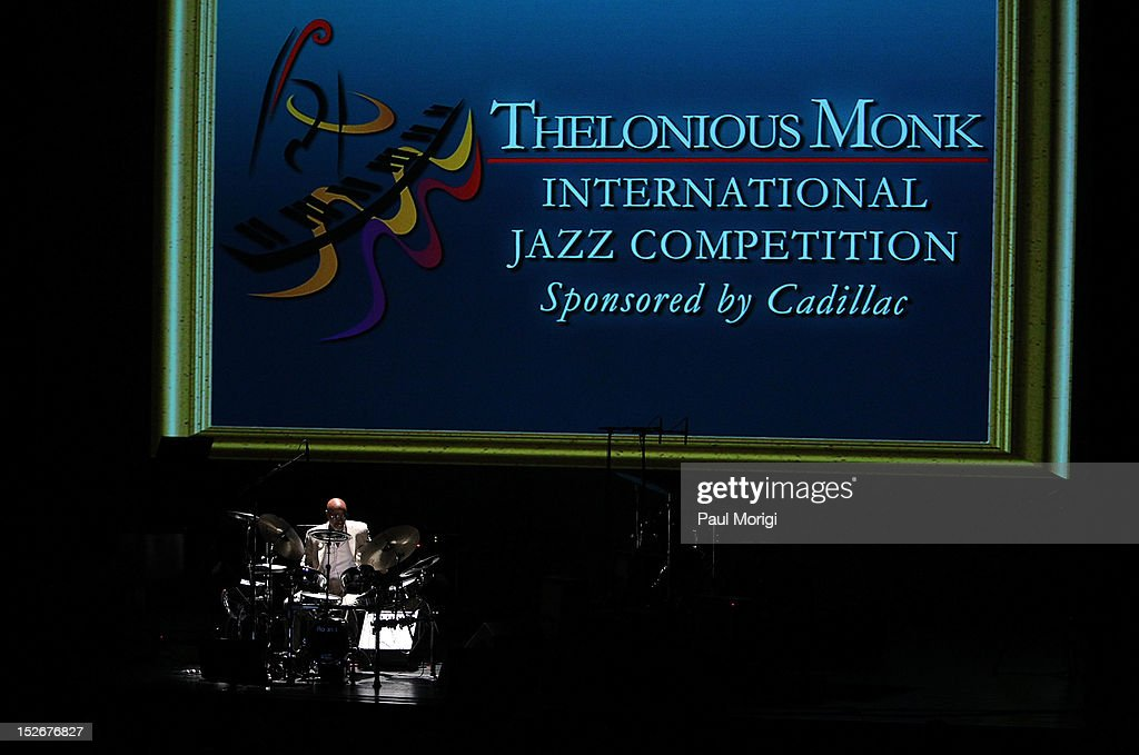 Thelonious S. Monk, Jr., Chairman, Institute Board of Trustees, performs at the Thelonious Monk International Jazz Drums Competition and Gala Concert at The Kennedy Center on September 23, 2012 in Washington, DC.