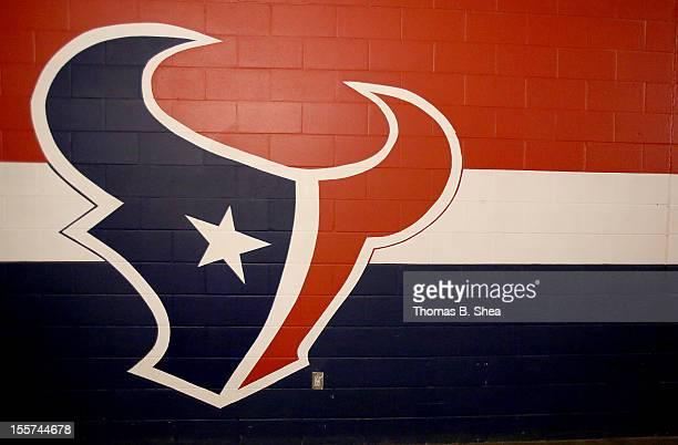 Then Houston Texans logo is seen on November 4 2012 at Reliant Stadium in Houston Texas Texans won 21 to 9