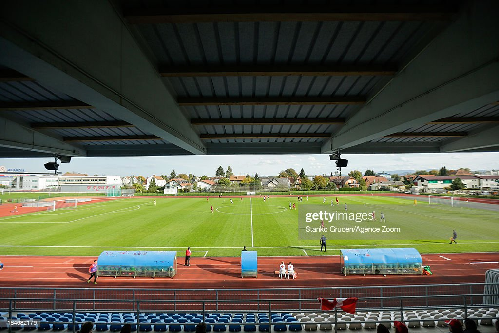 Then Mestni stadium Ptuj during the UEFA U19 Championships Qualifier between England and Switzerland, on October 15, 2013 in Ptuj, Slovenia.