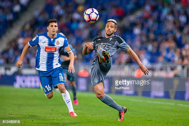 Theo Bongonda during the match between RCD Espanyol vs RC Celta for the round 6 of the Liga Santander played at Cornella El Prat Stadium on 25th Sep...
