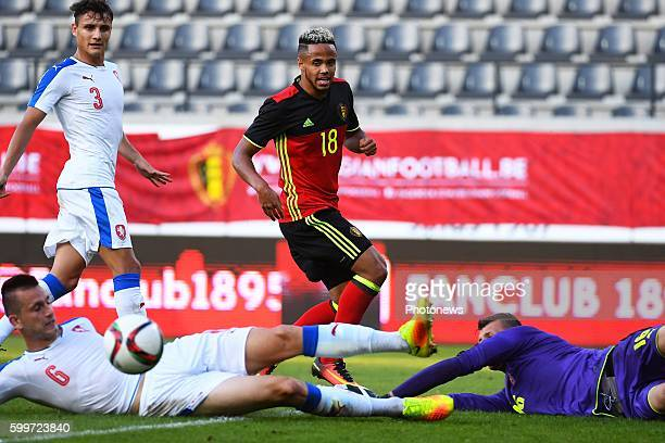 Theo Bongonda of Belgium during the International Qualifying Match for the UEFA European Under21 Championship 2017 in Poland between Belgium and...