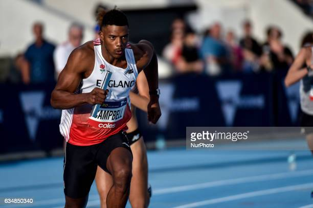 Theo Campbell of England during the Mixed 200m Sprint Medley Relay at Nitro Athletics at Lakeside Stadium on February 11 2017 in Melbourne Australia