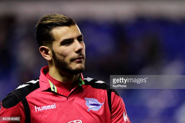 Theo Hernandez defender of Deportivo Alaves during the La Liga Santander match between Deportivo de La Coruña and Deportivo Alaves at Riazor Stadium...