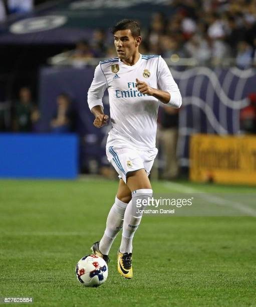 Theo Hernandez of Real Madrid controls the ball against the MLSAllStars during the 2017 MLS All Star Game at Soldier Field on August 2 2017 in...
