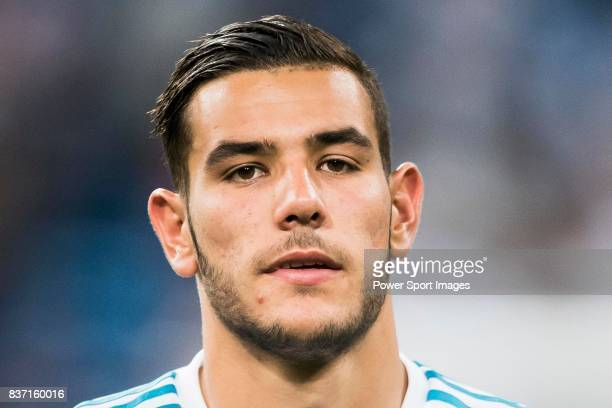 MADRID SPAIN AUGUST 16 Theo Hernandez of Real Madrid reacts after winning the Supercopa de Espana Final 2nd Leg match between Real Madrid and FC...