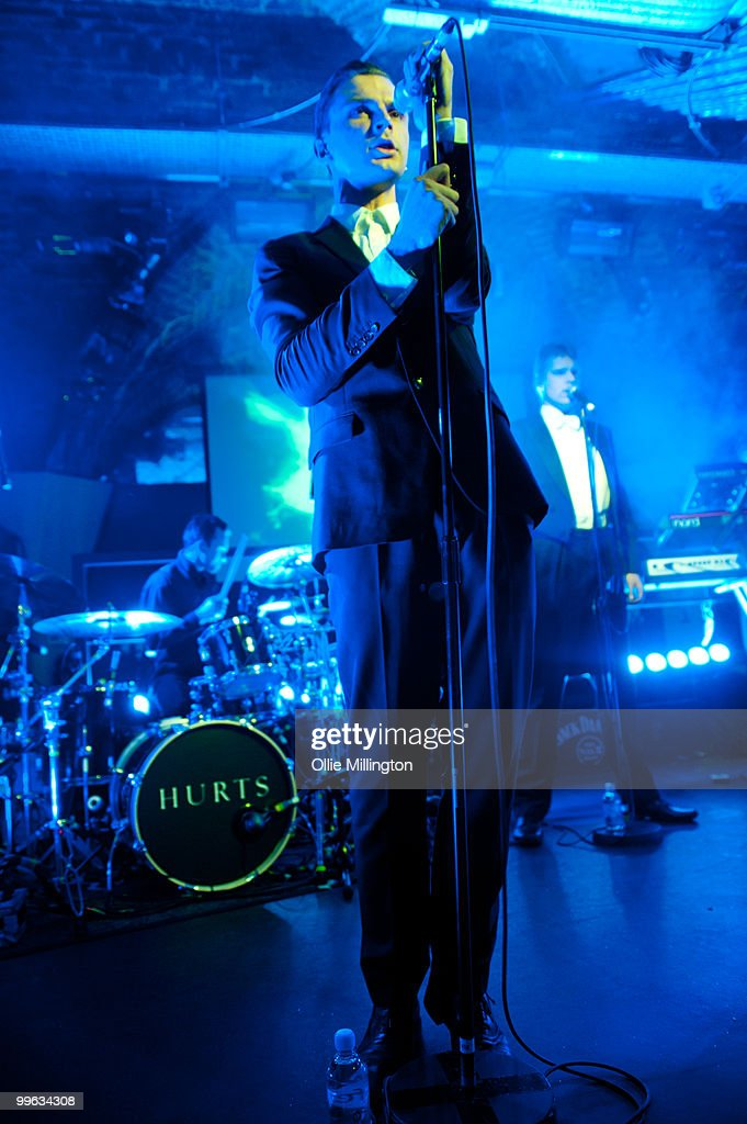 Theo Hutchcraft and Adam Anderson of Hurts performs on The Fly stage at The Brighton Coalition during day two of The Great Escape Festival on May 14, 2010 in Brighton, England.