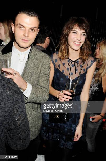 Theo Hutchcraft and Alexa Chung attend the Wyld Bar NME Awards after party at W London Leicester Square on February 29 2012 in London England