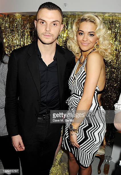 Theo Hutchcraft and Rita Ora attend an after party following the ELLE Style Awards at The Savoy Hotel on February 13 2012 in London England