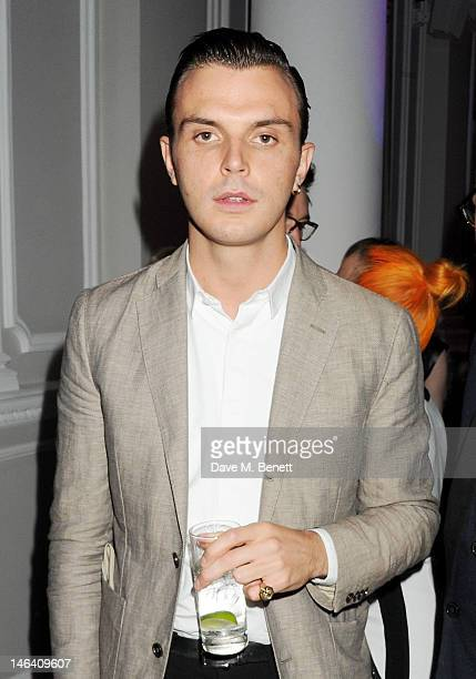 Theo Hutchcraft attends the Esquire Mr Porter and Jimmy Choo party during London Collections Men at Corinthia Hotel London on June 15 2012 in London...