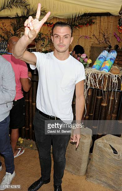 Theo Hutchcraft attends the Mahiki Coconut Backstage Bar during day 2 of V Festival 2013 at Hylands Park on August 18 2013 in Chelmsford England