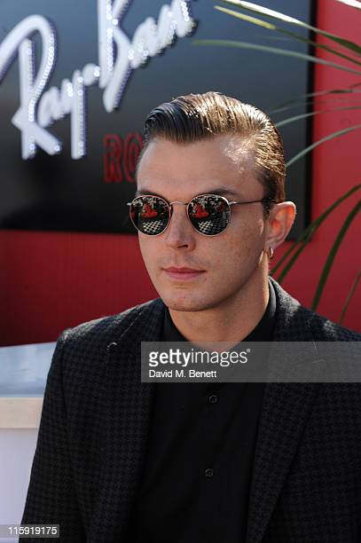 Theo Hutchcraft attends the RayBan Rooms during day two of the Isle of Wight Festival 2011 at Seaclose Park on June 11 2011 in Newport Isle of Wight...