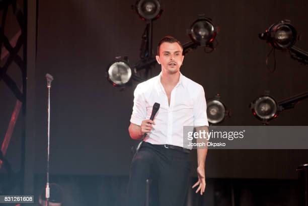 Theo Hutchcraft of Hurts performs during Day 5 of Sziget Festival 2017 on August 13 2017 in Budapest Hungary