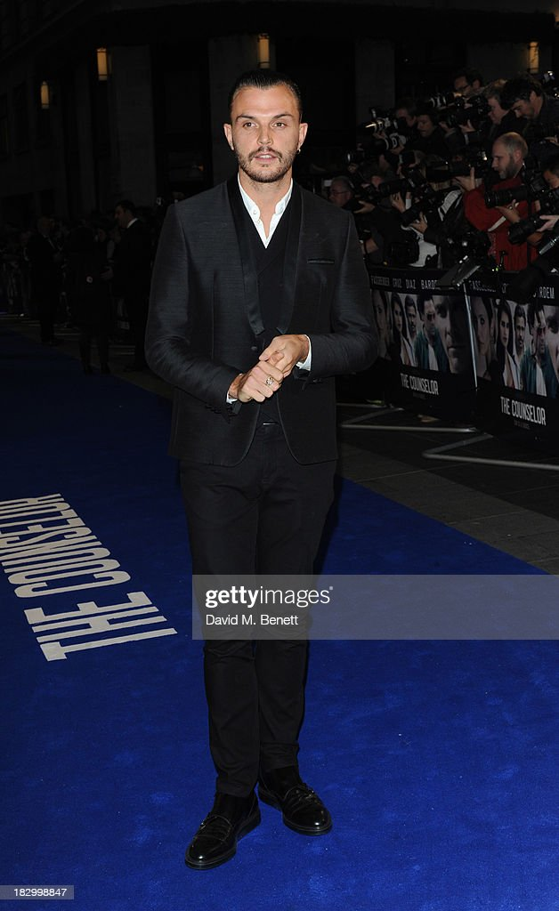 Theo Hutchraft attends a special screening of 'The Counselor' at the Odeon West End on October 3, 2013 in London, England.