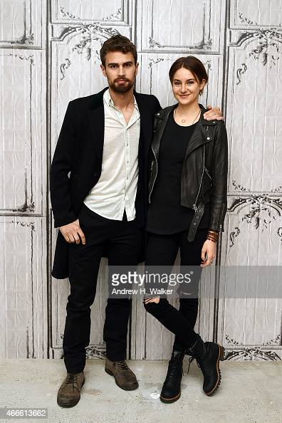 Theo James and Shailene Woodley visit AOL Build at AOL Studios In New York on March 17 2015 in New York City