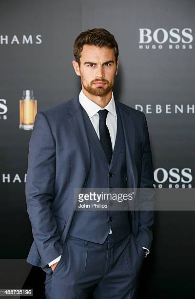 Theo James attends a photocall as he is announced as the new face of Boss The Scent at Debenhams on September 17 2015 in London England