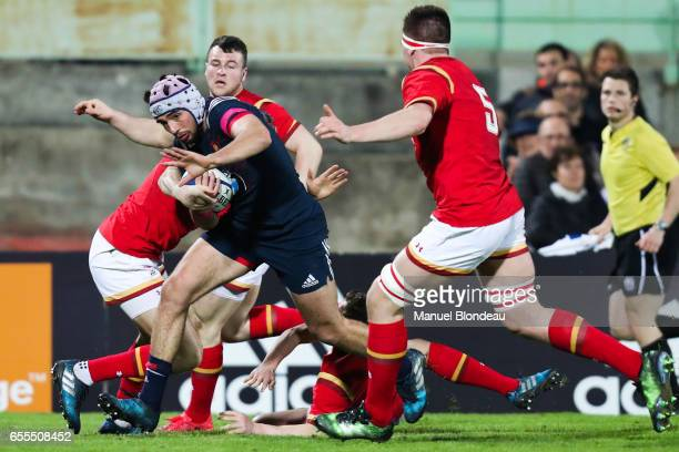 Theo Millet of France during the RBS Six Nations match between France U20 and Wales U20 on March 17 2017 in Montauban France