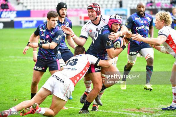 Theo Millet of Stade Français Paris during the Top 14 match between Stade Francais and Oyonnax on November 19 2017 in Paris France