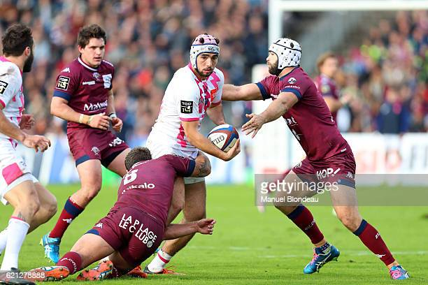 Theo Millet of Stade Francais during the Top 14 match between Begles Bordeaux and Stade Francais Paris on November 5 2016 in Bordeaux France