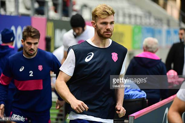 Theo Millet of Stade Francais Paris during the French Top 14 between Stade Francais and Lyon OU at Stade Jean Bouin on October 29 2016 in Paris France
