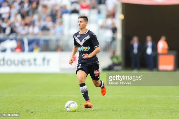 Theo Pellenard of Bordeaux during the Ligue 1 match between FC Girondins de Bordeaux and FC Nantes at Stade Matmut Atlantique on October 14 2017 in...